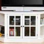 White Corner TV Stand – Bright and a Great Space Saver