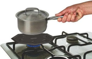 Simmer Mat Heat Diffuser on stovetop