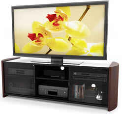 Wood Veneer TV Stand for 50-Inch-65-Inch Flat Panel TV Stand
