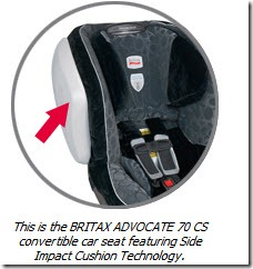 Britax Advocate 70 CS Side Impact Cushion