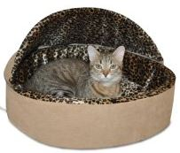 K & H Thermo Kitty Deluxe Hooded Cat Bed